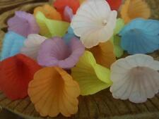 20 pce Colour Mix Frosted Calla Lily Flower Beads 20mm Jewellery Making Craft