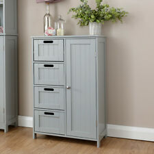 Colonial 4 Drawer 1 Door Chest of Drawers Multi Storage Grey Seconds