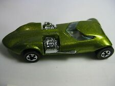 25th Anniversary Hot Wheels Car, 1969 Metallic Olive Green,  Dual Engine