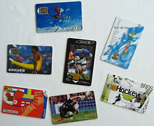 "Lot x 7 cartes téléphone ""Sports"" télécartes Phonecards"
