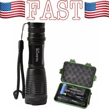 Super Bright Flashlight Torch 800 Lumens CREE T6 LED Adjustable Focus Zoomable