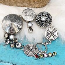 "Artisan Gemstone Sterling Silver 925 Horse Chunky Bracelet Upcycled Garnet 7"""