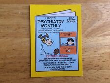 2017 WACKY PACKAGES 50TH ANNIVERSARY YELLOW STICKER LUCY'S PSYCHIATRY MONTHLY 4