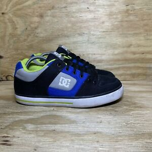 DC Men's Pure Tx Skate Shoes Size 10 Black Blue Gray Padded Athletic Casual
