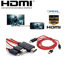 1080P MHL Micro USB To HDMI HDTV Cable Adapter For Android Samsung LG HTC Phones