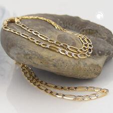 Oro Giallo 585 Collana in Collana, 50cm, Serbatoio Figaro, Bicolore, 14Kt