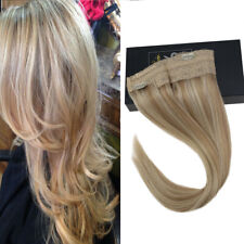 Sunny Invisible Halo Human Hair Extensions wire Remy Quality Ash mix Blonde