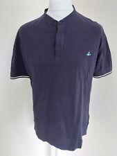 Mens Vivienne Westwood Grandad Collar Polo T-shirt Blue Xl 46 Chest