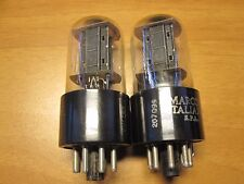 6SN7 # MARCONI TUBE # ITALY # B65 VALVE # CV1988 # 1950's # MATCHED # 110/110