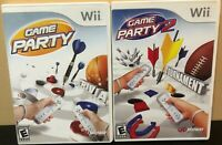 Game Party 1 &2 - Nintendo Wii - Complete w/ Manual - Tested - Free Ship