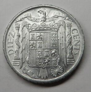 Spain 10 Centimos 1945 Aluminum KM#766 UNC