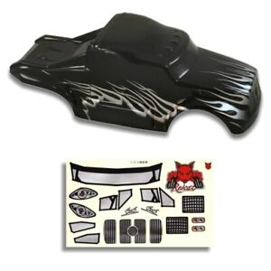 Redcat Racing Redcat VOLCANO S30 1/10 Semi Truck Body Black and Silver RER88035
