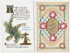 2 Birthday Postcards w/add-on card i