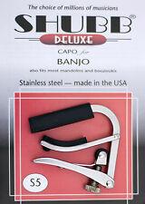 SHUBB S5 HIGH QUALITY STAINLESS STEEL CAPO FOR Banjo/Mandolin/Bouzouki  USA MADE