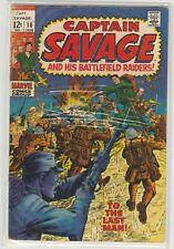 Captain Savage and his Battlefield Raiders # 10 Jan 1969 Marvel Ayers Severin