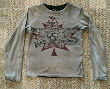 Pre-Owned Boys Sz 10/12 TRUNK Harley Davidson Long Sleeve T Shirt Excellent Cond