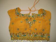 Chaniya Cholie 3 Pcs Yellow/Green w Beads & Squence Work Size Small Beautiful