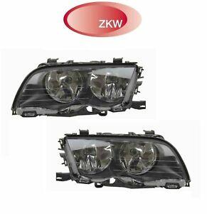 ZKW Halogen Headlights Set Left & Right 5820300002, 5820300003