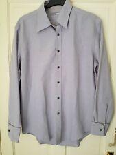 Mens Pale lilac  FIRETRAP Shirt Long Sleeve linen mix Size Large VGC