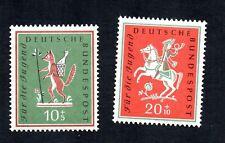 Germany 1958 Fox Bird Horse #B360-B361 Mint Never Hinged