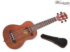 """Woodnote 21"""" Quality Mahogany / Heart Hole Style Soprano Ukulele / Carrying Bag"""