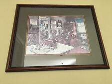 Greg Burns Pencil Signed Doctor's Office 1989 Print