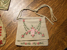 Purse Vintage Arts & Crafts with Embroidery
