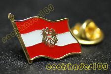 Austria National Flag Waving Metal Lapel Pin Badge