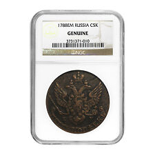Russia 5 Kopeks Catherine the Great Genuine NGC - SKU #51877