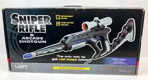 SNIPER RIFLE & ARCADE SHOTGUN (NEW) - Boxed Sony PlayStation 2/PS2 VGA Light Gun