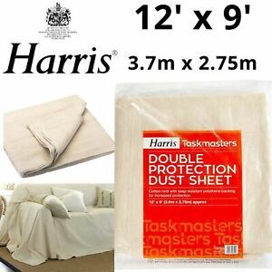 Cotton Dust Sheet Large Heavy Duty Decorating Paint Protection Twill Cover DIY