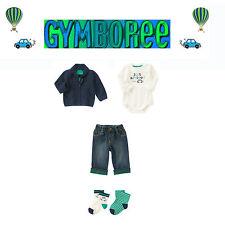 "Gymboree Baby Boys ""We Have Arrived""Cardigan/bodys/Jean/sock 4 Piece Set 6-12m"