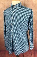 Chaps Ralph Lauren Classic Fit Wrinkle Free Blue Check Shirt Men's 16-16.5 32/33