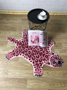 Faux Fur Leopard Cowhide Tiger Animal Area Rug Print Carpet Cute Kids Floor Mat