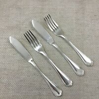 Christofle Silver Plated Cutlery Set Spatours Fish Knives Forks French Flatware