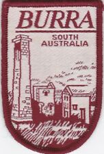 Vintage Burra South Australia souvenir embroidered cloth patch unused.