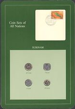 {BJSTAMPS} Coin Sets of All Nations Surinam BU 1980-1985 Suriname