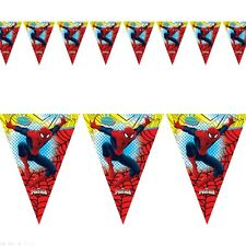 7.5ft Marvel Ultimate Spiderman Party Plastic Pennant Banner Bunting Decoration