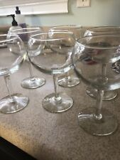 Set Of 6 Glass Red  Wine Glasses