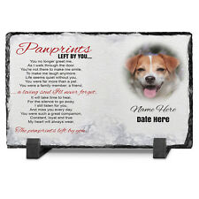 Memorial Pet Dog Photo Slate personalised Pawprint Poem Photo Keepsake Gift