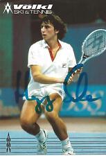 Autograph Hansjörg schwaier Tennis EH. Tennis Player Autographed 90er Völkl White