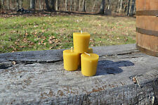 Set of 4 All Natural Hand poured Beeswax Votive Candles