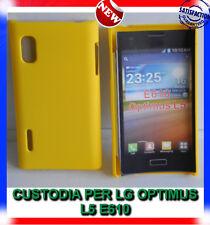 Pellicola + custodia back cover case GIALLA per LG Optimus L5 E610 Rigida Hard
