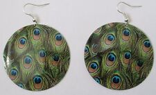 Big peacock eye dangle earring  PA3