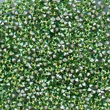 1028 PP27 P*** 50 strass Swarovski fond conique 3,45mm PERIDOT F