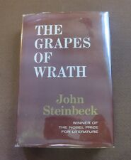 THE GRAPES OF WRATH by john Steinbeck - 1939 BC HCDJ - Nobel Prize - fine