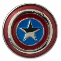 Marvel Captain America Classic Shield Colored Pewter Collectible Lapel Pin