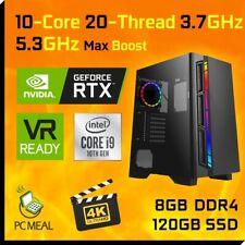 INTEL Core i9 10900K Max 5.3GHz RTX2060 6GB 120GB 8GB Gaming Computer Desktop PC