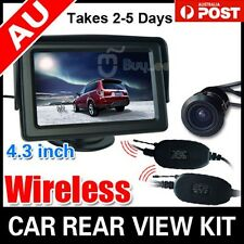 "4.3"" TFT LCD Monitor & Night Vision Reversing Camera Wireless Car Rear View Kit"