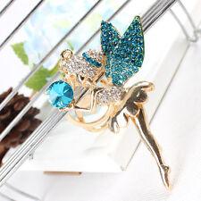 Ballet Girl Angel Wing Lovely Cute Pendant Crystal Purse Bag Key Chain Cute Gift